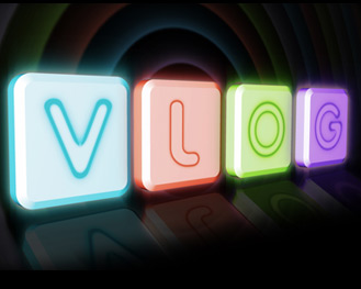 Vlog's new logo: It's all about pastels