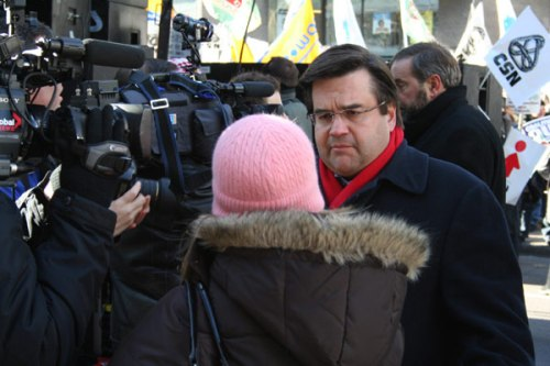 Wherever there's a microphone and camera, Liberal MP Denis Coderre is there.