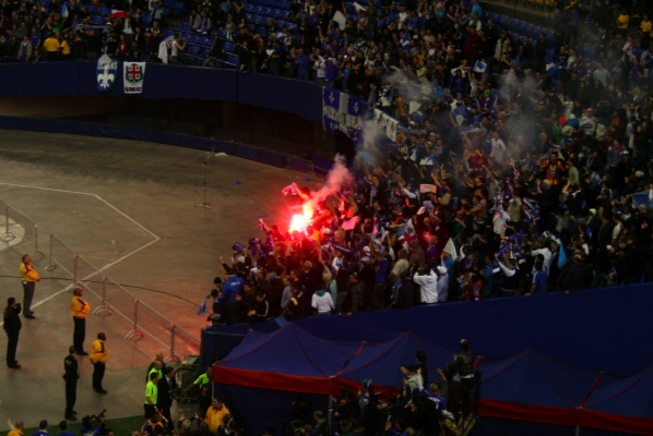 Hard-core Impact fans set off a flare