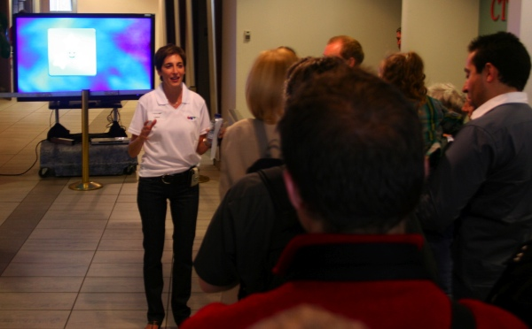 Cindy Sherwin rounds up another group for a tour
