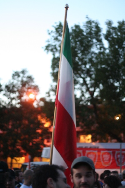 Your Hungarian flag is upside down. Or your Italian flag is sideways.