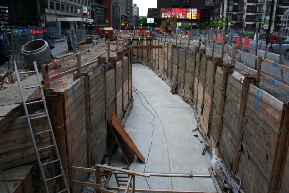 This tunnel under de Maisonneuve Blvd. will link Concordia's Hall and Library buildings with the Guy-Concordia metro station.