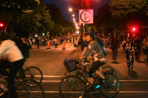 There were so many cyclists to start that they were split into two groups going up separate streets from St. Joseph. They were later reunited.