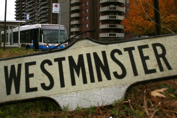 My Westminster sign near the terminus of the 162 Westminster bus