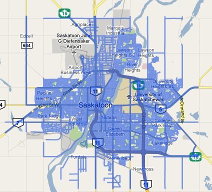 Google Street View in Saskatoon