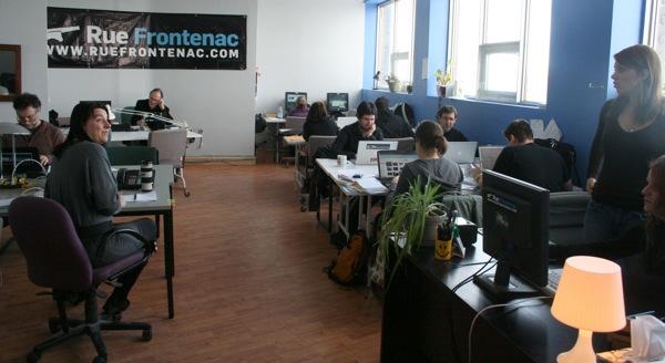 Rue Frontenac's newsroom in 2011