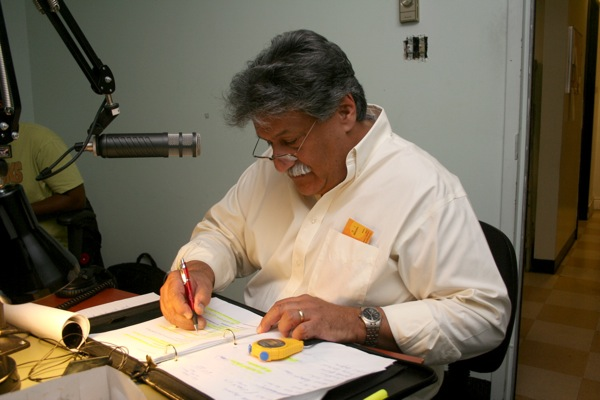 Paul (Tasso) Zakaib in the Mike FM studio