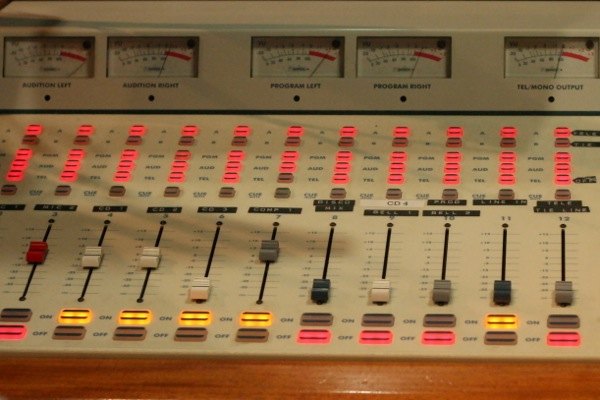 Mixing board at CJLO