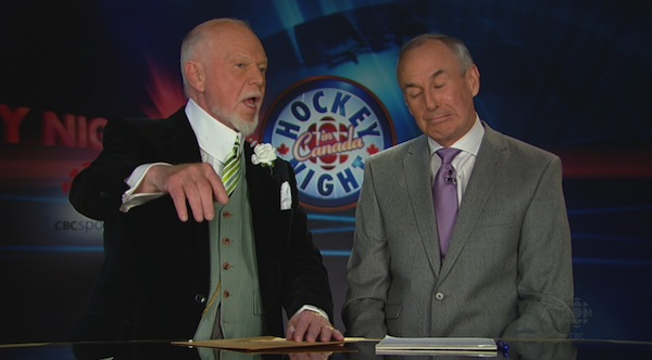 Don Cherry and Ron MacLean 7
