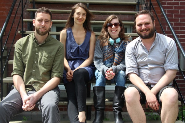The Midnight Poutine crew, from left: Theo Mathien, Amie Watson, Gabrielle LeFort, Gregory Bouchard