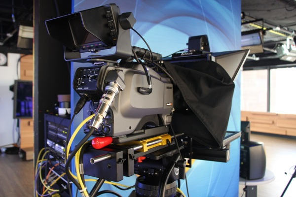 One of three cameras in studio.
