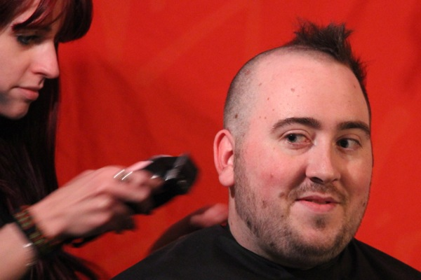 Some of his colleagues jokingly suggest the shave should stop right here.