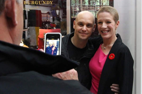 Christine Long with Jason Rockman, one of many people here who's still balder than her.