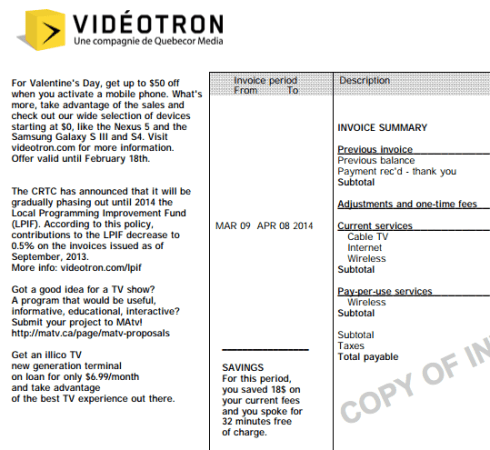 The Battle Over Videotrons Community TV Channel Fagstein - Videotron online invoice