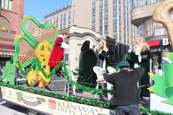 The queen's float during the St. Patrick's Parade on March 16.