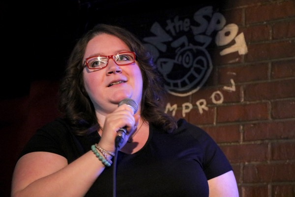 Robyn Flynn performs her girl-who-likes-sports materil