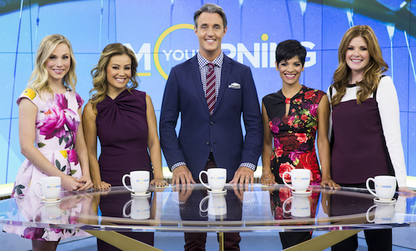 Your Morning cast, from left: Kelsey McEwen, Melissa Grelo, Ben Mulroney, Anne-Marie Mediwake, Lindsey Deluce. (photo: Bell Media)