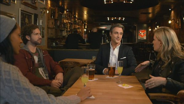 Mulroney again, with Rebecca Makonnen, Jonas and Anne-Marie Withenshaw at Midway pub.