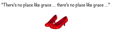 there's no place like grace ruby red slippers