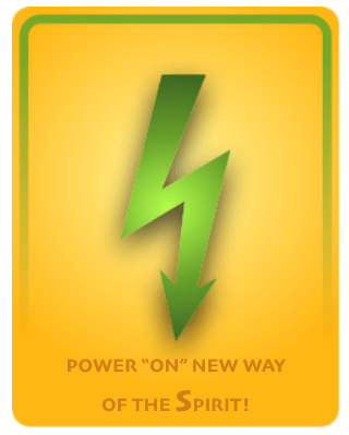 power on the new way Spirit orange green bolt