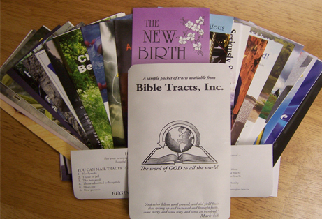 Bible Tracts Inc graphic for blog post tracts displayed