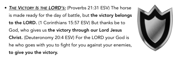 victory is LORD's shield