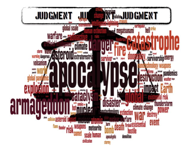 judgment apocalypse word cloud