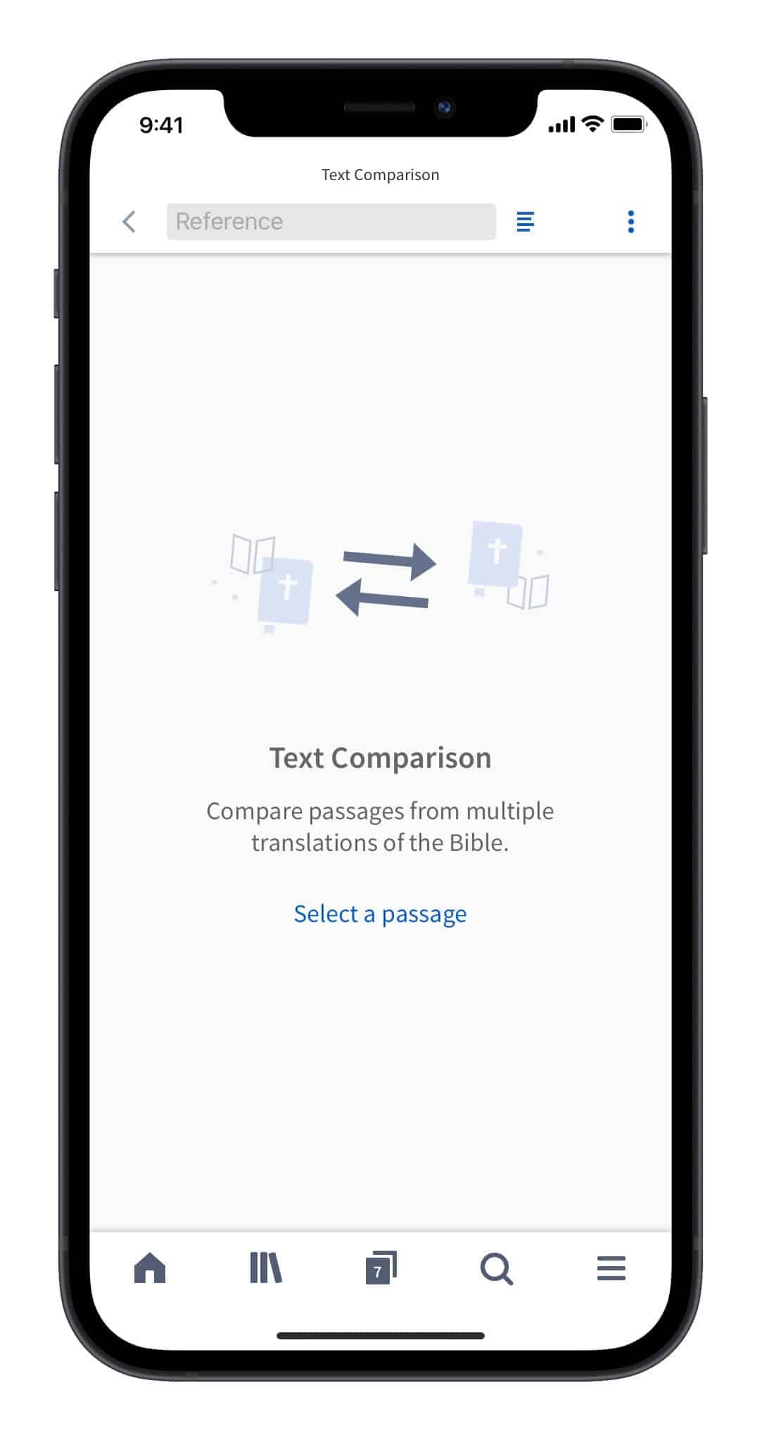 Bible Translations Text Comparison in the Logos Bible Study App