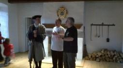 Guillaume Follardeau, Mario et Jean Falardeau, à l'intérieur du Fort Chambly