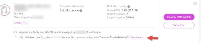Theory of Relativity Tree
