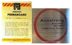 Asbestos Permaboard & Armstrong Accopac Asbestos Paper