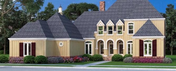 New European Style House Plan