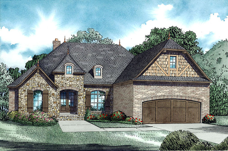 New 4 Bedroom European House Plans - Family Home Plans Blog
