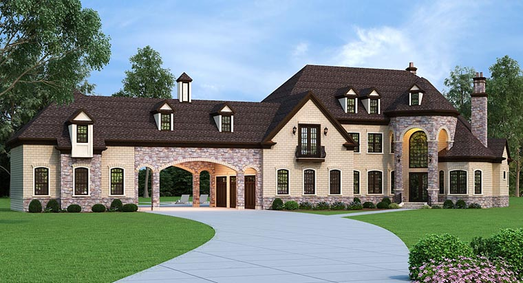 French Country House Plan with 5 Bedrooms - Family Home Plans Blog
