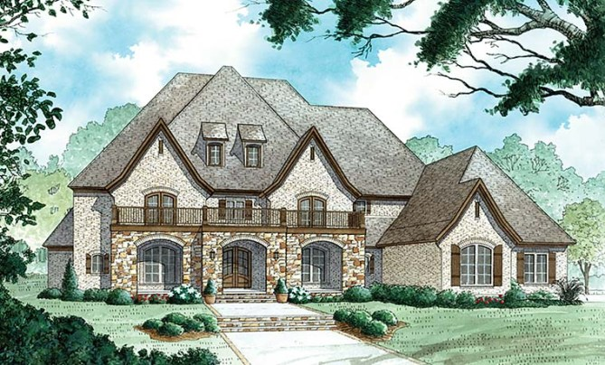 New French Country Home Plans