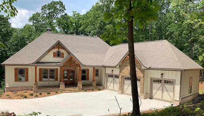 New 4 Bedroom Craftsman House Plan With Interior Photos From New Construction