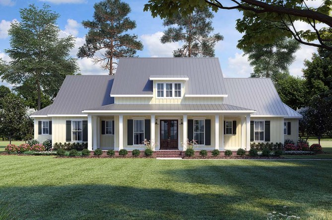 Popular Modern Farmhouse Plan With Wraparound Porch