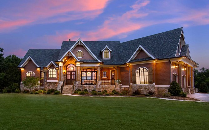 New Storybook Style Luxury Home Plan With 3572 SQ FT