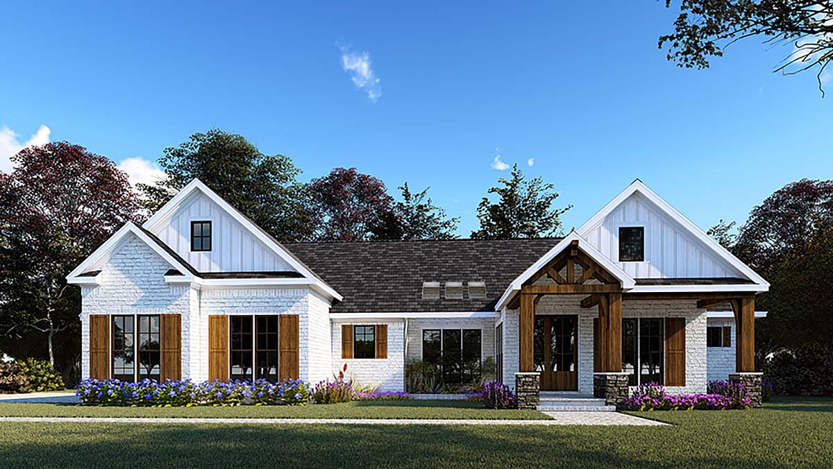 Modern Ranch House Plan With 2000 Square Feet - Family ...