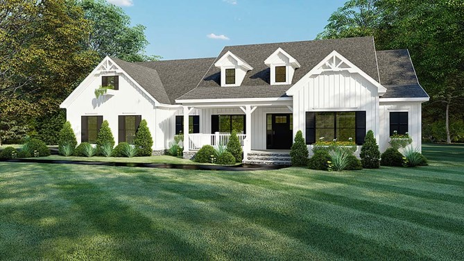 4 Bedroom Ranch House Plan With 2300 Square Feet