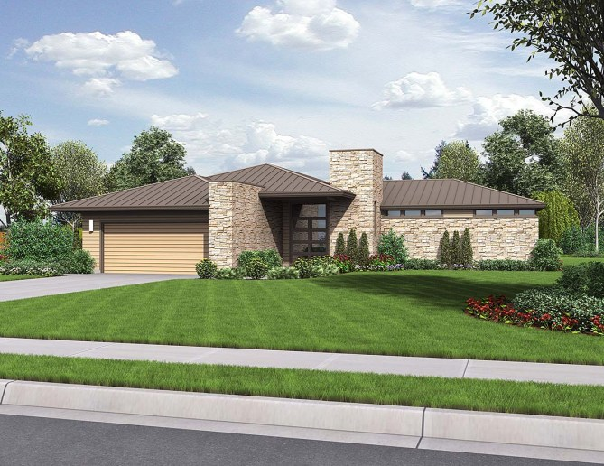 3 Bedroom Prairie Style House Plan With Photos