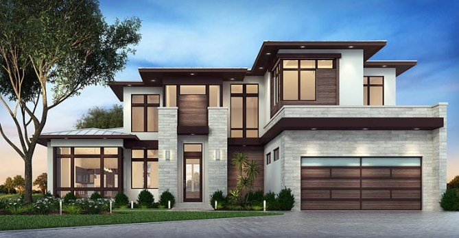 3 Bedroom Florida House Plan With Contemporary Design