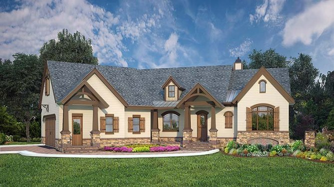 2764 Sq Ft Craftsman House Plan With Room To Expand