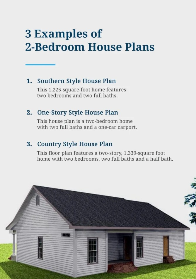 Examples of 2 Bedroom House Plans