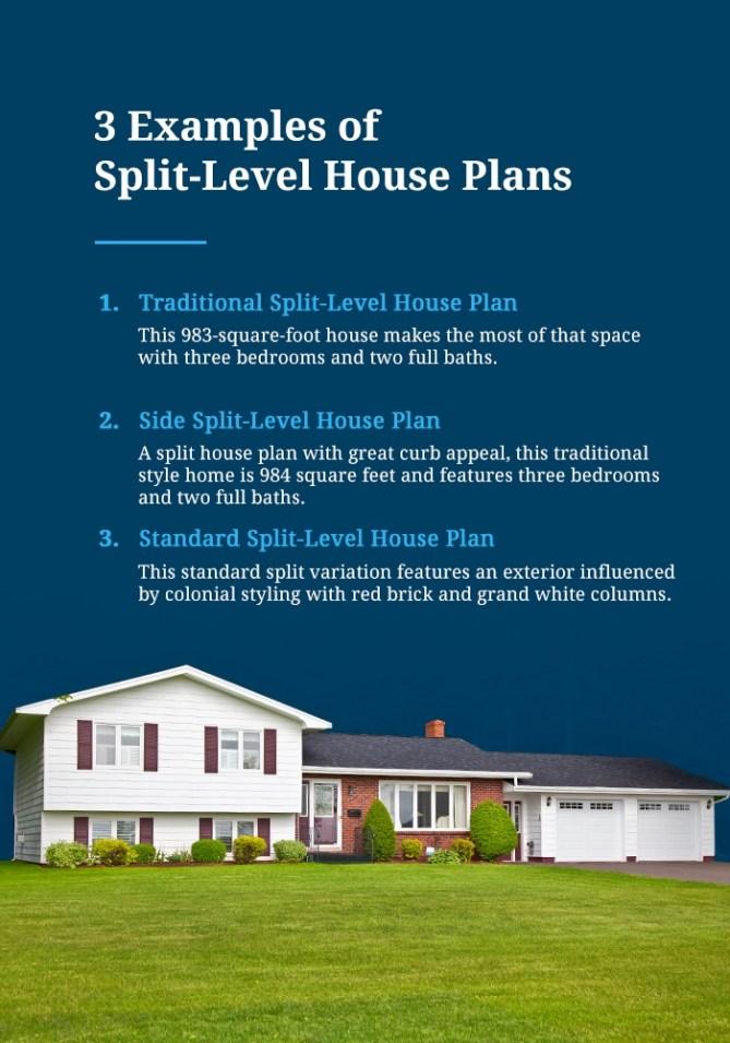 Examples of Split-Level House Plans