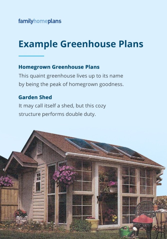 Examples of Greenhouse Plans