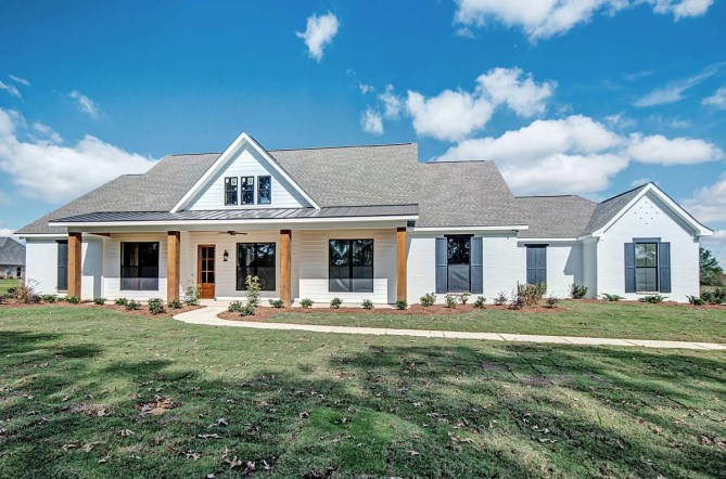 4 Bedroom 2.5 Bathroom Farmhouse Style Home Plan With Pictures