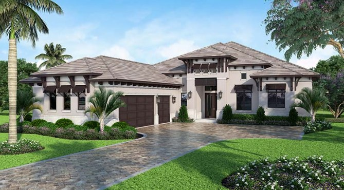 4 Bedroom Mediterranean Style House Plan With Interior Pictures