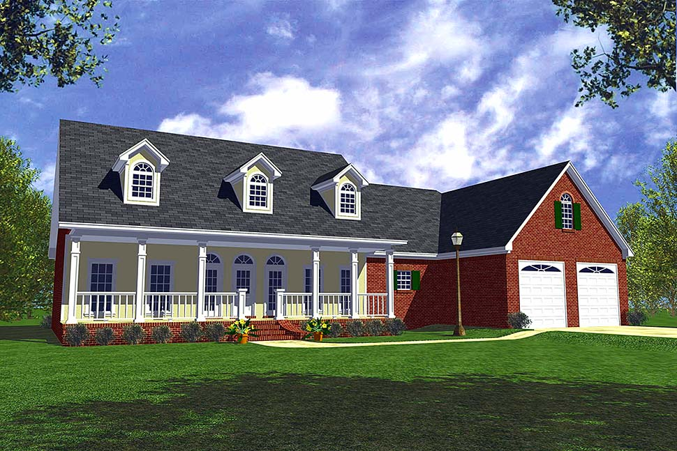 Country Home Plan With Sunroom