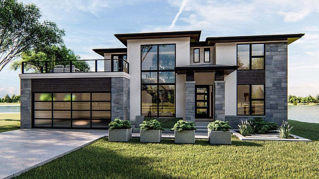 Modern Prairie Style House Plan